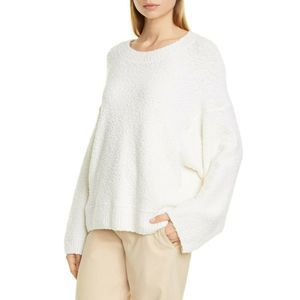 Vince Sweater XL Ivory Boucle Wool Pullover NWOT
